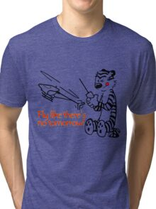 RC Helicopter Hobbes Design Tri-blend T-Shirt