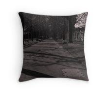South Walks Avenue in Monochrome Throw Pillow