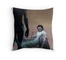 Wolvy and Nightcrawler Throw Pillow