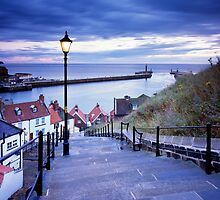 Whitby Steps and Harbour' by Jon Brock