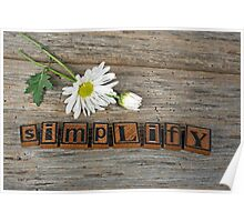 Simplify Daisy Poster