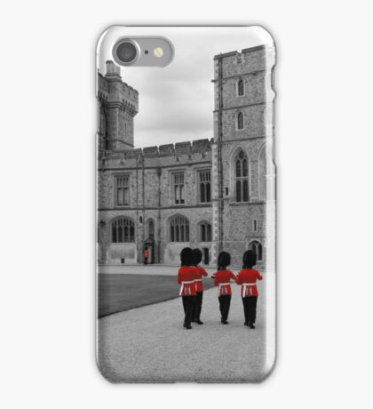 Changing of the Guard at Windsor Castle iPhone Case/Skin