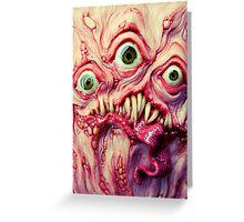 green eye triclops Greeting Card