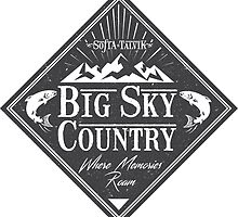 Big Sky Country - Dark print by sofiatalvik