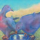 Blushing Birds (Pastel) by Niki Hilsabeck