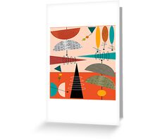 Mid-Century Modern Abstract #59 Greeting Card