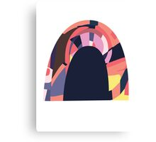 Rainbow tunnel Canvas Print
