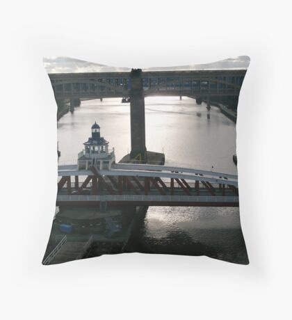 Swing Bridge and High Level Throw Pillow