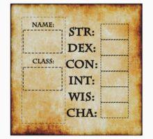 Blank RPG Character Sheet by Noah Kantor