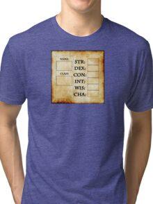 Blank RPG Character Sheet Tri-blend T-Shirt