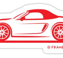 Porsche 981 Boxster Top Up Red Sticker