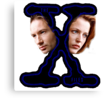 X-Files Scully and Mulder then Canvas Print