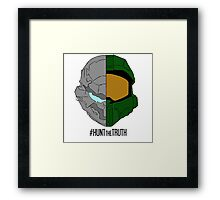 #HuntTheTruth - Locke/Master Chief Colour Framed Print