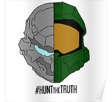 #HuntTheTruth - Locke/Master Chief Colour Poster