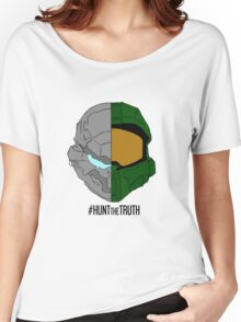 #HuntTheTruth - Locke/Master Chief Colour Women's Relaxed Fit T-Shirt