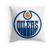 Edmonton Oilers Throw Pillow