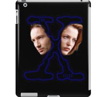 X-Files Scully and Mulder then iPad Case/Skin