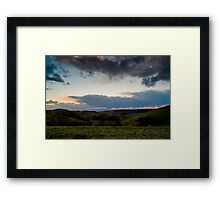 Sunset over the Kaiserstuhl, South-West Germany Framed Print