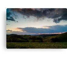 Sunset over the Kaiserstuhl, South-West Germany Canvas Print