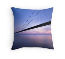 'Humber Bridge at sunset' Throw Pillow