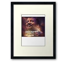 Black Science Man Framed Print
