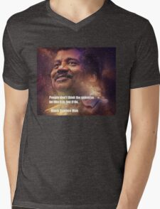 Black Science Man Mens V-Neck T-Shirt