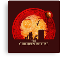 The Children of Time - 2015 (DW) Circular Canvas Print