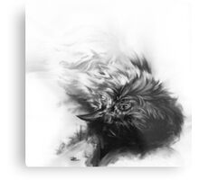 Senescent 4 - charcoal drawing Metal Print