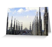 The Roof of the Duomo of Milano Greeting Card