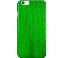 green knitting iPhone Case/Skin