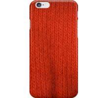 orange knitting iPhone Case/Skin