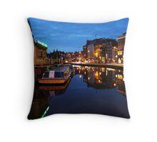 Dutch Canal Throw Pillow