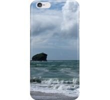 Gull Rock off Portreath, Cornwall iPhone Case/Skin