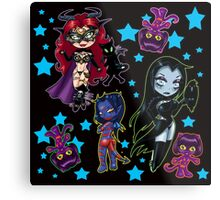 Tarot & Friends Chibi design on Black! Metal Print