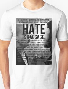 American History X - Hate Is Baggage full quote T-Shirt