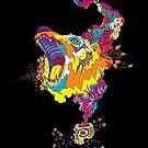 Psychedelic acid bear roar by Andrei Verner