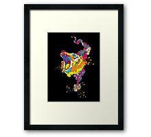 Psychedelic acid bear roar Framed Print