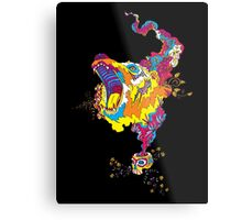 Psychedelic acid bear roar Metal Print