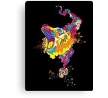Psychedelic acid bear roar Canvas Print