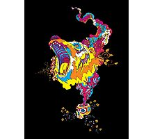 Psychedelic acid bear roar Photographic Print