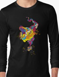 Psychedelic acid bear roar Long Sleeve T-Shirt