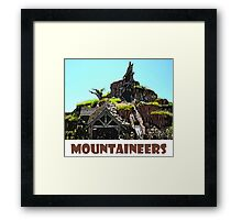 "Splash Mountain Disney World ""Mountaineers"" Framed Print"