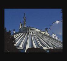 Space Mountain Cartoon Disneyland Disney World Baby Tee