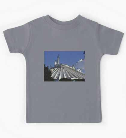 Space Mountain Cartoon Disneyland Disney World Kids Tee