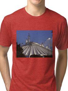 Space Mountain Cartoon Disneyland Disney World Tri-blend T-Shirt