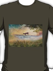 White Tail Deer Touting the Water - Parc National Mont Tremblant T-Shirt