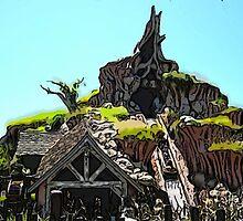 Splash Mountain Cartoon Disneyland Disney World by WDWMountaineers