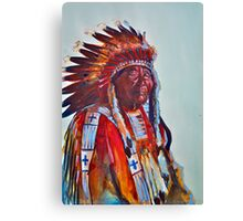 Crazy Head, Cheyenne Chief Canvas Print
