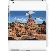 Big Thunder Mountain Cartoon Disney World Disneyland iPad Case/Skin
