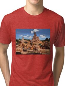 Big Thunder Mountain Cartoon Disney World Disneyland Tri-blend T-Shirt